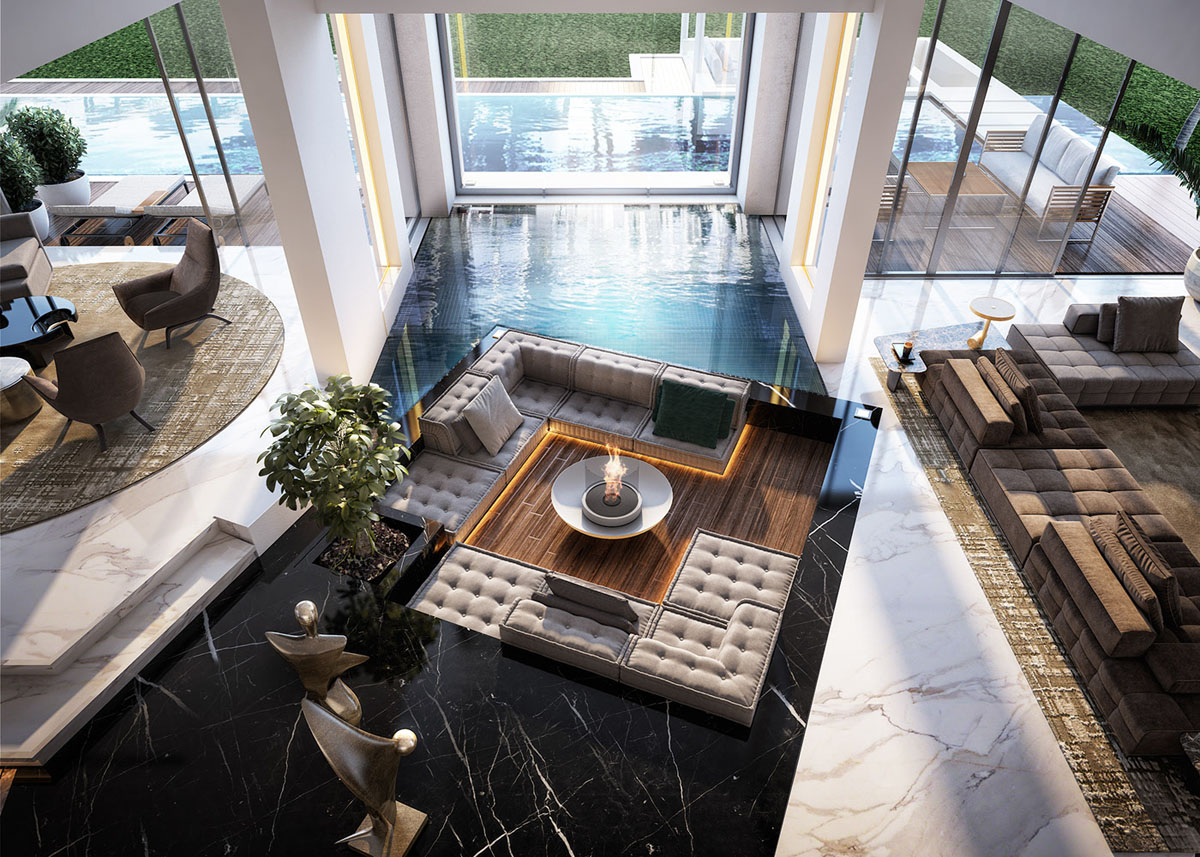 Contemporary-Luxury-Home-Open-Plan-High-Ceiling-Living-Room-Pool_1